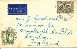 Australia Cover Sent To England Riverstone 11-5-1936 - 1913-36 George V: Sonstige Abb.