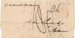 WW662 - Lettre Précurseur S' GRAVENHAGE 1850 Vers BATAVIA - Via Marseille - Port 180 Cents = 216 Duiten - Pays-Bas