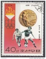 DPR Korea 1976 Sc. 1496  XXI Olimpiade Montreal Medaglie D ' Oro Soccer Calcio  DDR Gold Winners - Estate 1976: Montreal
