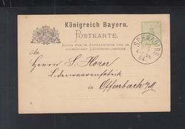 Bayern GSK 1884 Vordruck Carl Rehm Lacklederfabrik - Bayern