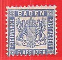 MiNr.19a X (Falz)  Altdeutschland Baden - Baden