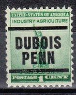 USA Precancel Vorausentwertung Preo, Locals Pennsylvania, Dubois 203 - Vereinigte Staaten
