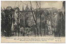 GUERRE 1914-15 - BELGIQUE NIEUPORT Ruines Eglise Notre Dame - Oorlog 1914-18