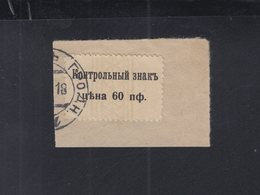 Landesbotenpost 10. Armee Briefstück Mit Befund Mikulski - Besetzungen 1914-18