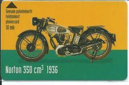 Télécarte Magnétique Finlande Moto NORTON 350 Cm3 1936 - Motor Sports - Sport  Phonecard (D 313) - Motos