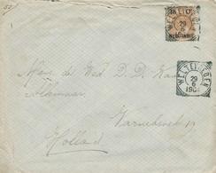 WW527 - Lettre TP Wilhelmina WELTEVREDEN 1904 Vers ALKMAAR NL - Tarif 15 Cents - Indes Néerlandaises