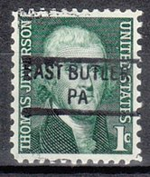 USA Precancel Vorausentwertung Preo, Locals Pennsylvania, East Butler 841 - Vereinigte Staaten