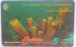 142CSVB Yellow Tube Sponge $20 - St. Vincent & The Grenadines