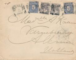 WW528 - Lettre TP Wilhelmina  Et Cifers AMBARAWA 1902 Vers ALKMAAR NL - Tarif 30 Cents Double Port - Indes Néerlandaises