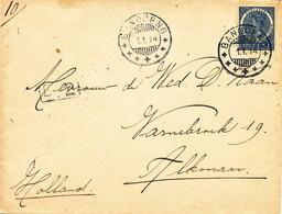 WW529 - Lettre TP Wilhelmina  BANDOENG 1914 Vers ALKMAAR NL - Tarif 12 1/2 Cents - Nederlands-Indië