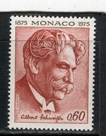 MONACO - Y&T N° 1011** - Albert Schweitzer - Monaco