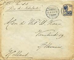 WW530 - Lettre TP Wilhelmina MEESTER CORNELIS 1919 Vers ALKMAAR NL - Tarif 12 1/2 Cents - S.S.Prins Der Nederlanden - Indes Néerlandaises