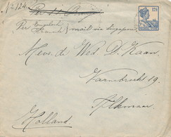 WW531 - Lettre TP Wilhelmina MEESTER CORNELIS 1919 Vers ALKMAAR NL - Tarif 12 1/2 Cents - S.S.Oranje , Puis Singapore - Nederlands-Indië