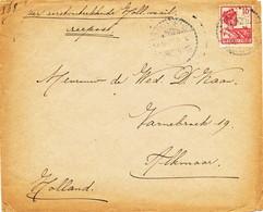WW533 - Lettre TP Wilhelmina BANDOENG 1920 Vers ALKMAAR NL - Tarif 10 Cents Zeepost Hollandse Schepen - Indes Néerlandaises