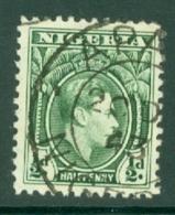 Nigeria: 1938/51   KGVI    SG49    ½d     Used - Nigeria (...-1960)