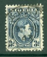 Nigeria: 1938/51   KGVI    SG53    3d   Blue   Used - Nigeria (...-1960)