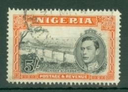 Nigeria: 1938/51   KGVI    SG59b     5/-    [Perf: 14]         Used - Nigeria (...-1960)