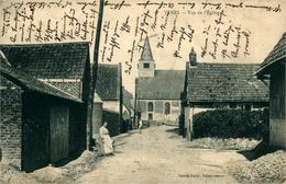 YTRES Vue De L'église (coin Gauche Plié) Affranchissement Allemand Particulier - France