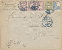 WW535 - Lettre TP Wilhelmina + Veth BANDOENG 1920 Vers ALKMAAR NL - Tarif 15 Cents Zeepost S.S. Oranje - Indes Néerlandaises
