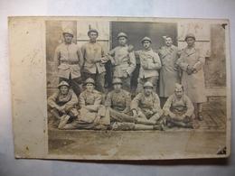 Carte Postale Photo Militaria - Unité Du 79° D'Infanterie  (Petit Format Noir Et Blanc Circulée ) - War 1914-18