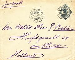 WW536 - Enveloppe Entier Postal TP Wilhelmina MENADO 1919 Vers DEN HELDER NL - Tarif 10 Cents Zeepost - Niederländisch-Indien
