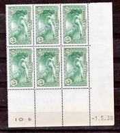 Andorre  63 Bloc De 6 Coin Daté 1 5 39 Petite Déchirure En Marge Peu Visible Neuf ** TB MNH Sin Charmela - Neufs