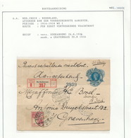 WW537 - Enveloppe Entier Postal Recommandée TP Wilhelmina SOEKABOEMI 1916 Vers DEN HAAG NL - Per Eerste Vrachtboot - Indes Néerlandaises