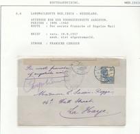 WW538 - Lettre TP Wilhelmina SOEKABOEMI 1917 Vers DEN HAAG NL - Per Eerste Mail - Censure France - Nederlands-Indië