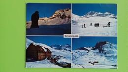 Cartolina SIMPLONPASS - SVIZZERA - Viaggiata - Postcard - Vedutine - Suisse