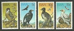 NAMIBIA SOUTH WEST AFRICA SWA 1975 BIRDS FALCON EAGLE VULTURE SET MNH - Namibia (1990- ...)