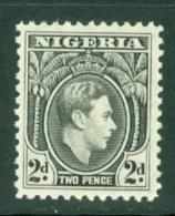 Nigeria: 1938/51   KGVI    SG52    2d   Black    MNH - Nigeria (...-1960)