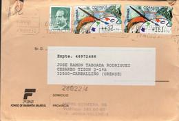 SPAIN ESPAGNE USED REGISTRERED COVER 1998 ATM ATMS  PAINTING PAINT ART - 1931-Aujourd'hui: II. République - ....Juan Carlos I