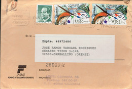 SPAIN ESPAGNE USED REGISTRERED COVER 1998 ATM ATMS  PAINTING PAINT ART - 1931-Oggi: 2. Rep. - ... Juan Carlos I