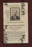 Faire-part De Décès - Guipavas - (1945) Memento - Monsieur Etienne Goasduf - Obituary Notices