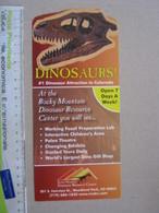 FS1 FOSSILI DEPLIANT MUSEO PALEO - USA ROCKY MOUNTAIN COLORADO DINOSAURO WOODLAND PARK - Fossils