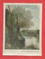 """Tableau  Fibré """"COROT """" : La Liseuse Sur La Rive Boisée  (format : 10,8cm X 14,5cm )   Voir Les 2 Phot. - Other Collections"""