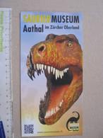 FS1 FOSSILI DEPLIANT MUSEO PALEO - HELVETIA SVIZZERA SWITZERLAND AATHAL OBERLAND SAURIER DINOSAURO - Fossils
