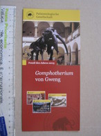 Z.06 FOSSILI DEPLIANT - GERMANY FOSSIL DES JAHRES - 2013 GOMPHOTHERIUM VON GWENG - Fossili