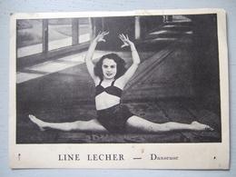 LINE LECHER / DANSEUSE / DEDICACE A SON AMI JEAN - Autographes