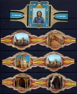 LOT 15 BAGUES DE CIGARES TRES GRANDS FORMATS- THEME MONUMENS ESPAGNOLS +  DIVERS- 2 SCANS - Bagues De Cigares