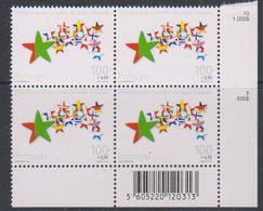 Portugal 2000 Presidency EU 1v Bl Of 4 (corner, Code)  ** Mnh (38271Q) - Europese Gedachte