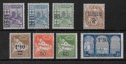 ALGERIE - YT N° 71/77 + 86 * CHARNIERE LEGERE - COTE = 8.3 EUR. - Algérie (1924-1962)