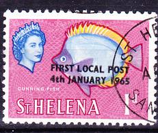 St. Helena - St.-Helena-Falterfisch (Chaetodon Sanctaehelenae) (MiNr: 163) 1965 - Gest Used Obl - Saint Helena Island