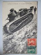 LES TANKS ET LES OBSTACLES / JOLIE CARTE 1928 - Matériel
