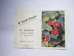 Calendrier De Poche 1963 A Saint Joseph Le Raincy ( Seine Saint Denis ) R. GUERIN 7 Av. De La Résistance - Old Professions