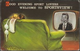 Comic - Good Evening Sports Lovers, C.1960s - Bamforth Postcard - Humour