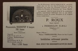 PIERRECLOS (71) - LES ETABLISSEMENTS DUCRETET P. ROUX - Altri Comuni