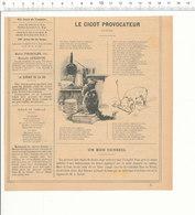 Presse 1891 Le Gigot Provocateur Conte Fable Chat Chien Tribunal Conclusion évocation (Jean) De La Fontaine  216CH10 - Vieux Papiers