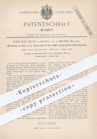 Original Patent - John Mac Nicol , Algier | Seraing / Belgien , 1885 , Umlaufkessel | Dampfkessel , Wasser - Kessel !! - Historische Dokumente