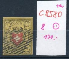 Schweiz  Nr.  8   O (c8580  ) Siehe Scan - 1843-1852 Correos Federales Y Cantonales